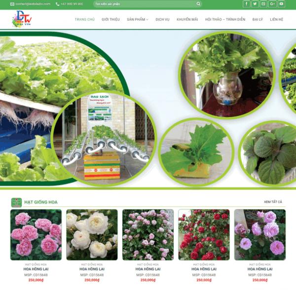 Theme wordpress bán hoa, cây giống M41