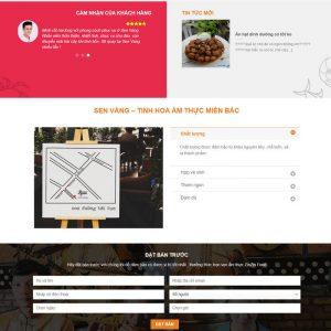 Theme wordpress nhà hàng M53 hình số 2