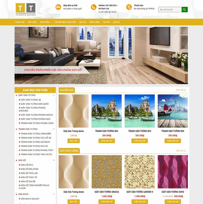 Theme wordpress bán nội thất, giấy dán tường M57