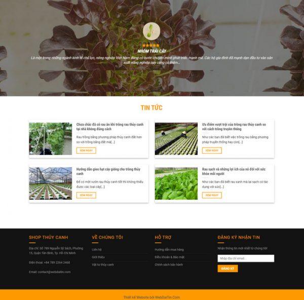 Theme wordpress nông nghiệp thủy canh M58 hình số 2
