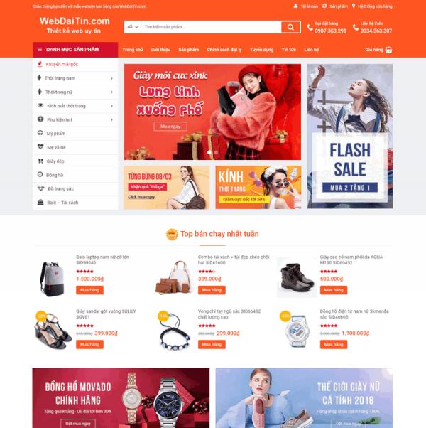 Theme wordpress bán hàng thời trang phụ kiện M59