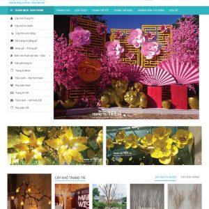 Theme wordpress cây cảnh, cây hoa trang trí M69