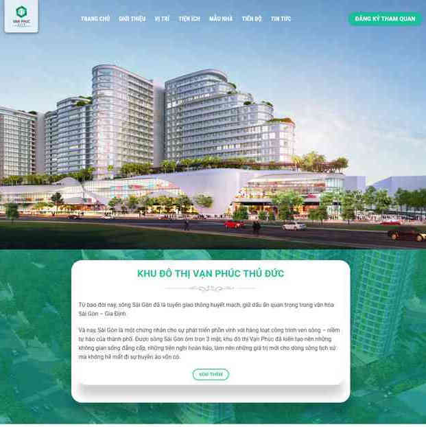Theme bất động sản wordpress landing page M78