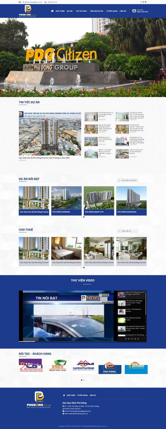 Theme bất động sản dành cho sàn giao dịch, CĐT hiện đại M95