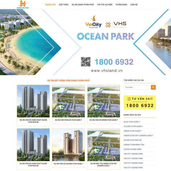 Theme bất động sản công ty, sàn phân phối dự án chuyên nghiệp M86 hình 2