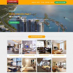 Theme bất động sản nhiều dự án gọn gàng thanh thoát M85
