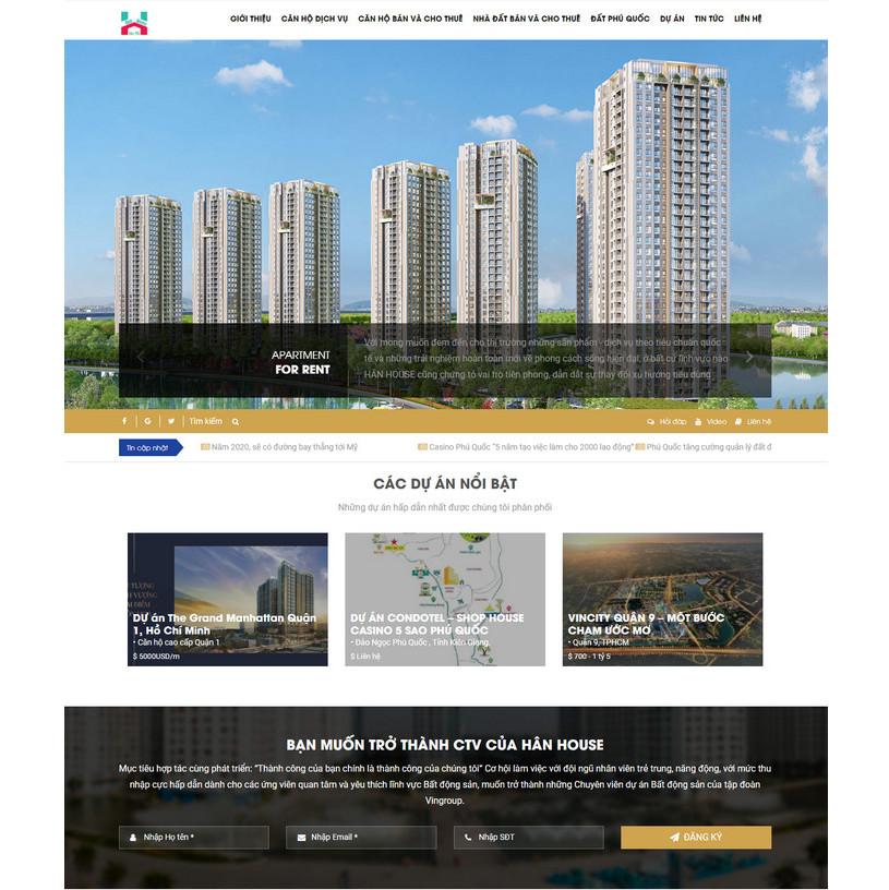 Theme wordpress BĐS bán dự án và nhà đất căn hộ, cho thuê M92 hình 2