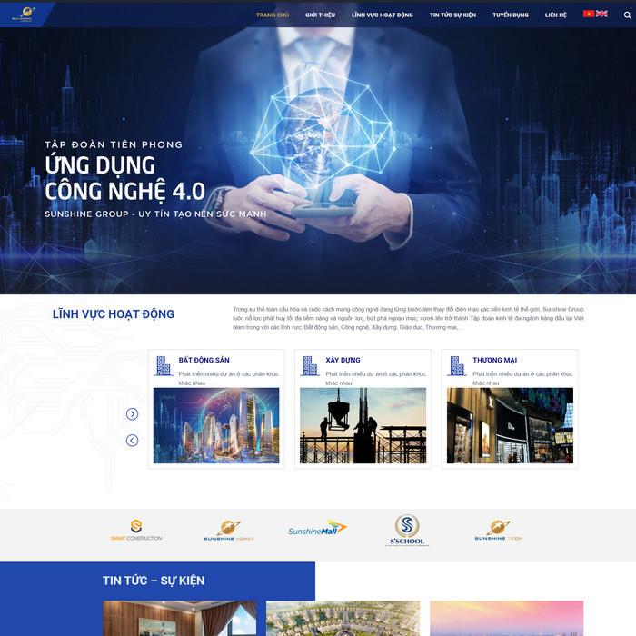 Theme wordpress giới thiệu công ty tập đoàn M110