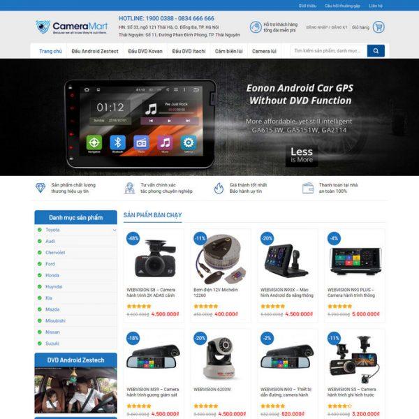 Theme Wordpress bán Camera, Màn hình DVD M178 hình 2