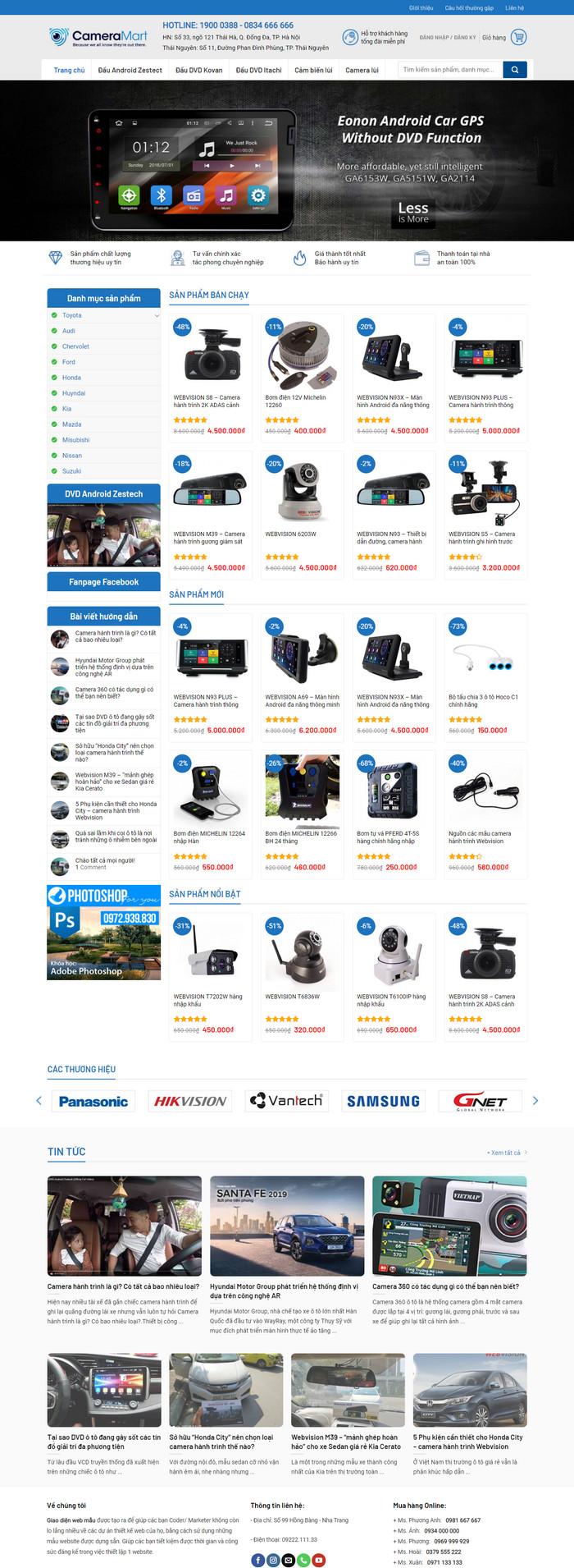 Theme WordPress bán Camera, Màn hình DVD M178