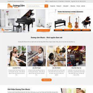 Theme Wordpress bán Đàn, Dạy Học Đàn hình số 2