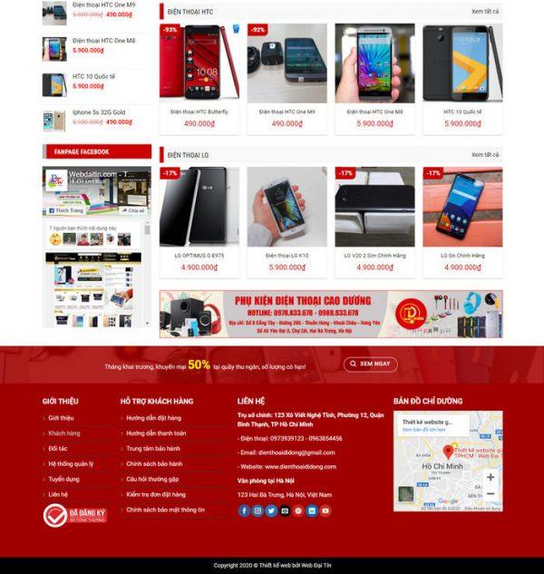 Theme Wordpress bán hàng Điện Thoại, Máy Tính, Phụ Kiện linh kiện hình 2