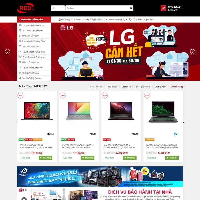 Theme WordPress bán hàng Máy Tính, Laptop, Linh kiện điện tử văn phòng