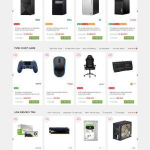 Theme Wordpress bán hàng Máy Tính, Laptop, Linh kiện điện tử văn phòng hình 2