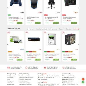 Theme Wordpress bán hàng Máy Tính, Laptop, Linh kiện điện tử M148 hình 2