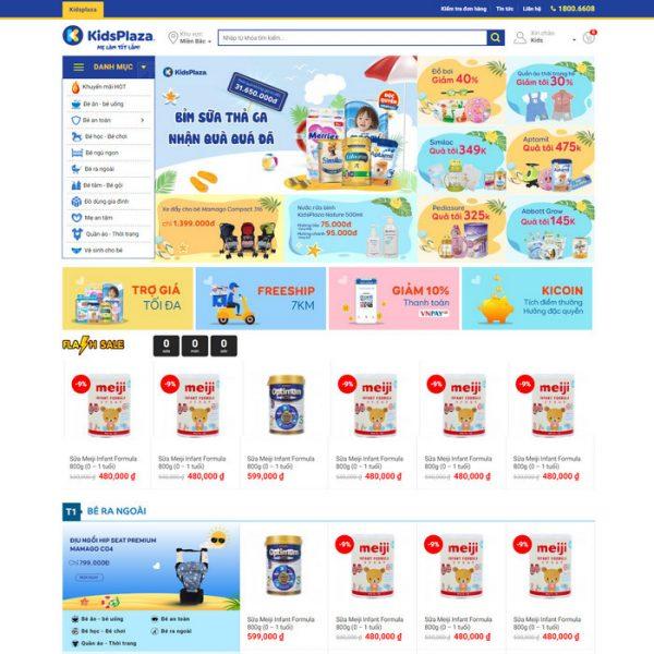 Theme Wordpress bán hàng Mẹ và Bé, Mỹ Phẩm, Phụ Kiện Đẹp Tuyệt Vời M125