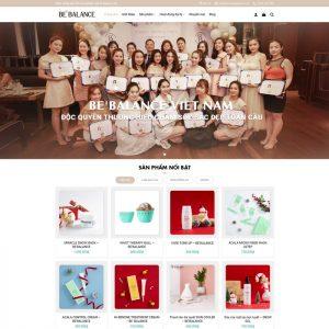Theme Wordpress bán hàng Mỹ Phẩm đẹp nhẹ nhàng M159 hình 2