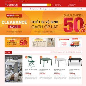 Theme Wordpress bán hàng Nội Thất, Thiết bị đồ gia dụng siêu đẹp M143 hình số 2