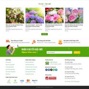 Theme Wordpress bán hàng Shop cửa hàng Hoa Tươi hình 3