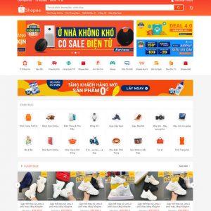 Theme Wordpress bán hàng Thương Mại Điện Tử giống Shopee M140 số 2