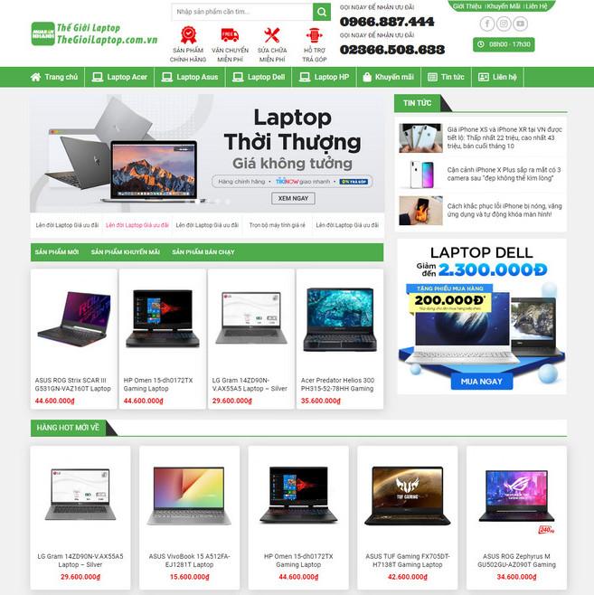 Theme WordPress bán Laptop Máy Tính Xách Tay M176 hình 2