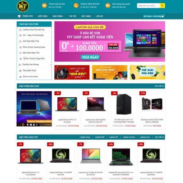 Theme Wordpress bán Laptop, Máy Tính PC, Linh kiện điện tử M169 hình 2
