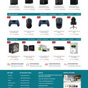 Theme Wordpress bán Laptop, Máy Tính PC, Linh kiện điện tử M169 hình 3