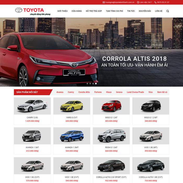 Theme WordPress bán Xe Toyota M152 hình số 2
