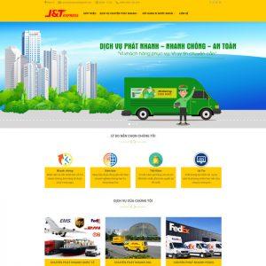 Theme Wordpress Dịch Vụ Chuyển Phát Gửi Hàng Quốc Tế M168 hình 2