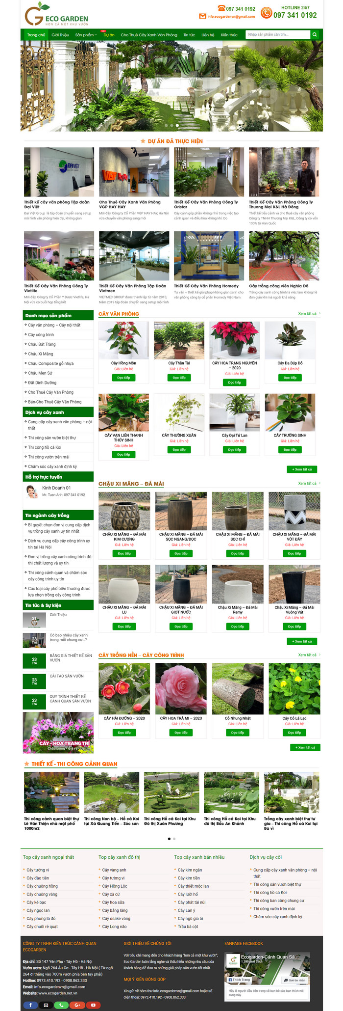 Theme WordPress Cảnh Quan, Cây Trồng, Cây Cảnh M170