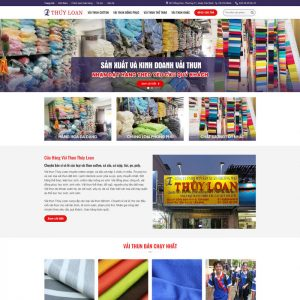 Theme Wordpress Xưởng Sản Xuất và Kinh Doanh Vải Thun đồng phục
