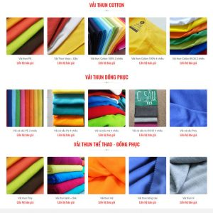 Theme Wordpress Xưởng Sản Xuất và Kinh Doanh Vải Thun đồng phục hình 2