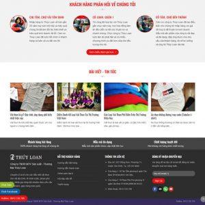 Theme Wordpress Xưởng Sản Xuất và Kinh Doanh Vải Thun đồng phục hình 3
