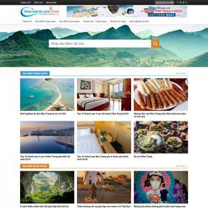 Theme Wordpress Tin Tức Du Lịch, Review Ăn Uống M172 hình 2