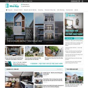 Theme Wordpress Tin Tức Tạp Chí Nhà Đẹp M174 hình 2