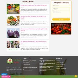 Theme Wordpress Trái Cây, Thực Phẩm Sạch rau củ quả hình 3