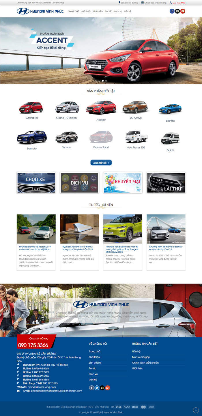 Theme WordPress bán Xe Hyundai M183