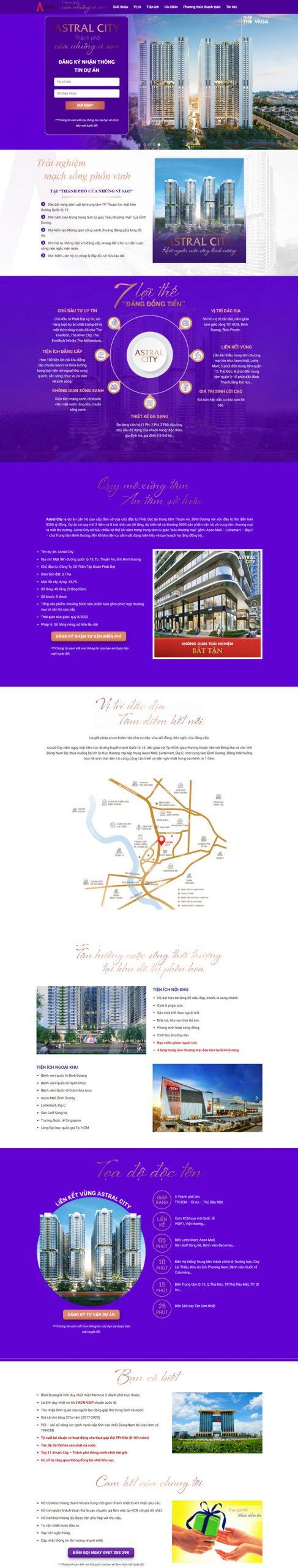 Theme WordPress bất động sản Landing Page mới nhất M189