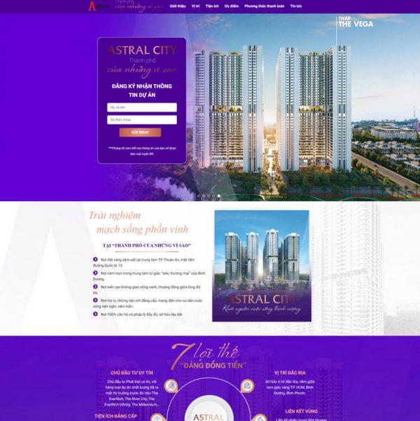 Theme Wordpress bất động sản Landing Page mới nhất M189 hình 2