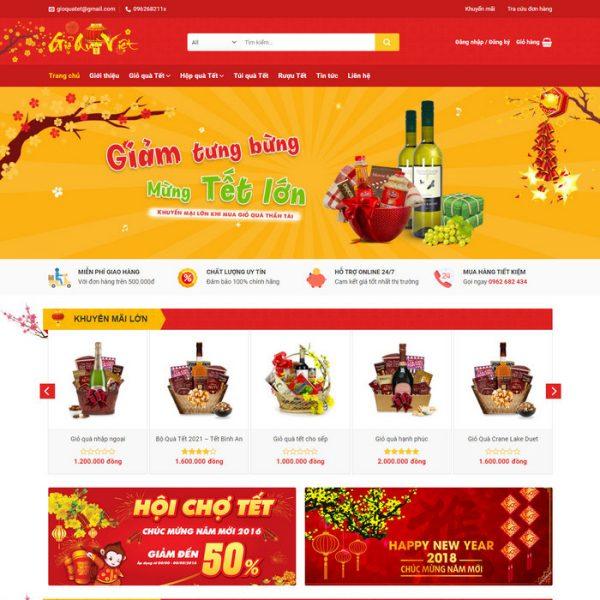 Theme wordpress bán hàng Quà Tết 2021 M190 hình 2