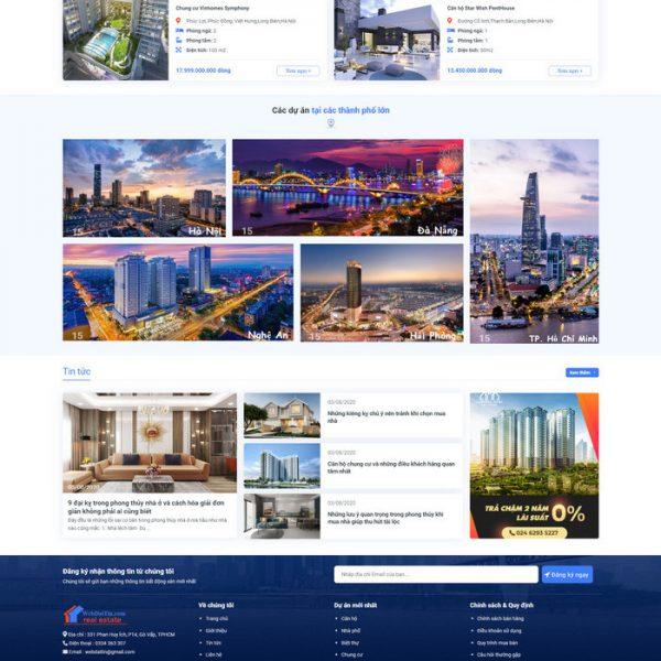Theme Wordpress Bất Động Sản Cao Cấp Mẫu 90 hình 4