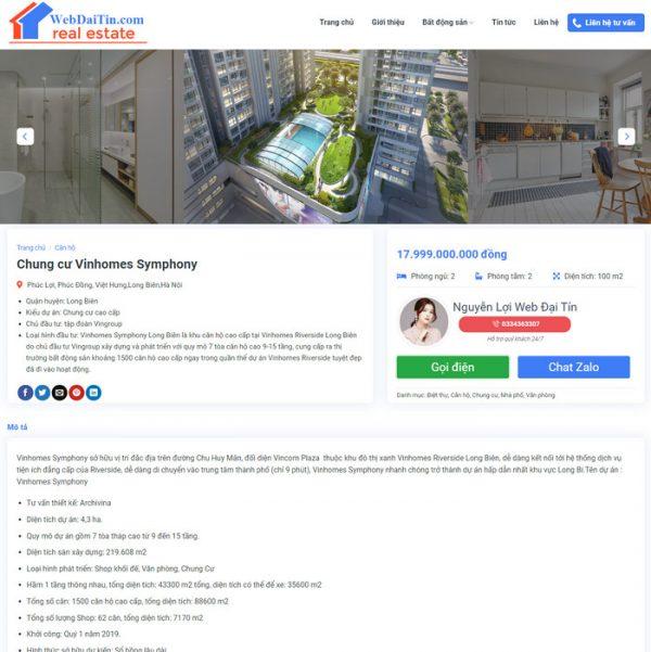 Theme Wordpress Bất Động Sản Cao Cấp Mẫu 90 hình 5