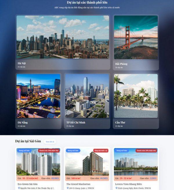 Theme Wordpress Bất Động Sản Cao Cấp M192 hình 4