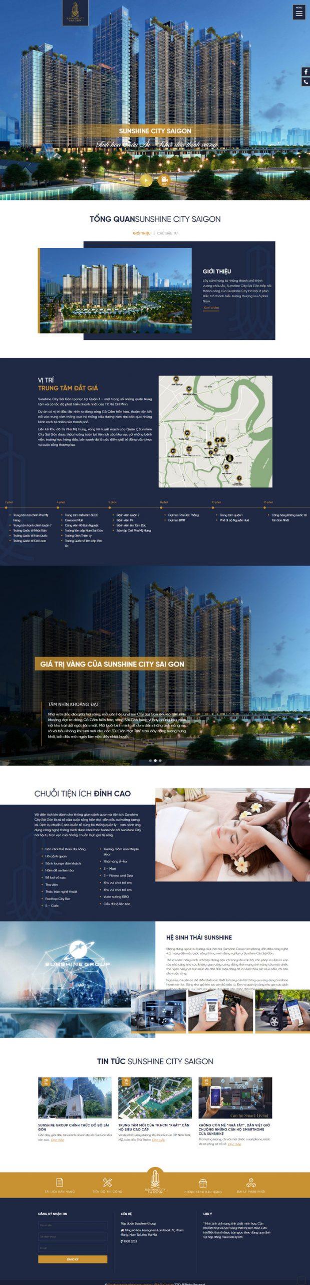 Theme WordPress giới thiệu dự án bất động sản M193