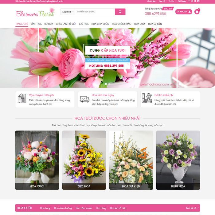 Theme wordpress bán hàng Shop Hoa Tươi M191 hình 2