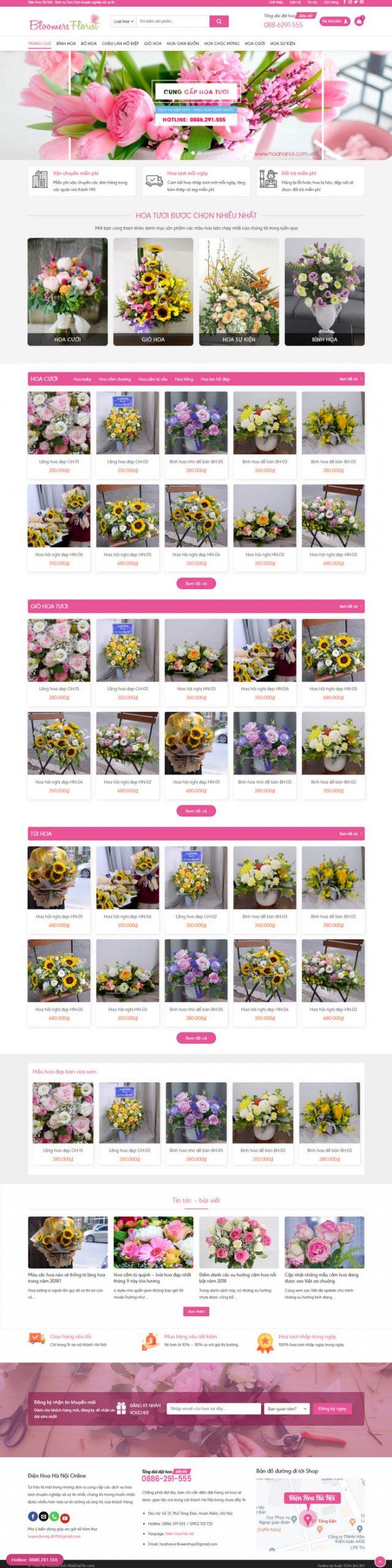 Theme wordpress bán hàng Shop Hoa Tươi M191