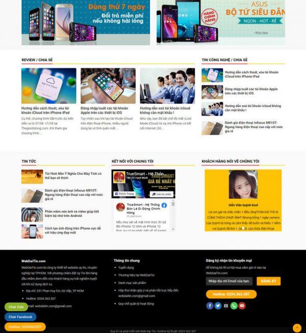 Theme Wordpress bán hàng điện thoại, máy tính giống Thegioididong M198 hình 4
