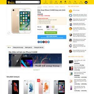 Theme Wordpress bán hàng điện thoại, máy tính giống Thegioididong M198 hình 5