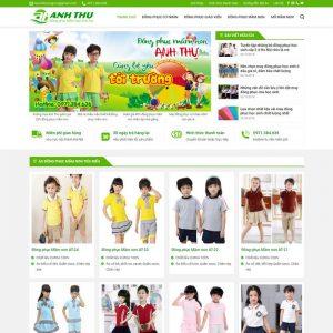 Theme Wordpress bán hàng Đồng phục mầm non M202 hình 2