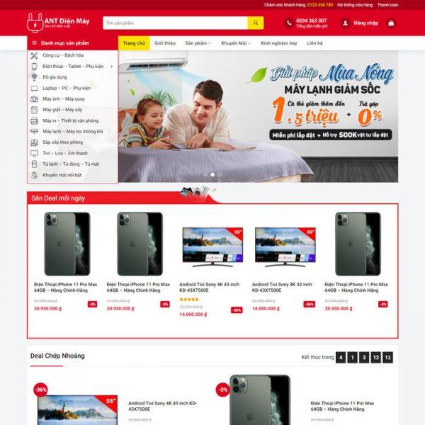 Theme Wordpress bán hàng điện máy mẫu số 4 hình số 2